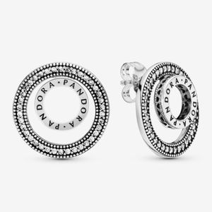 Pandora logo earrings